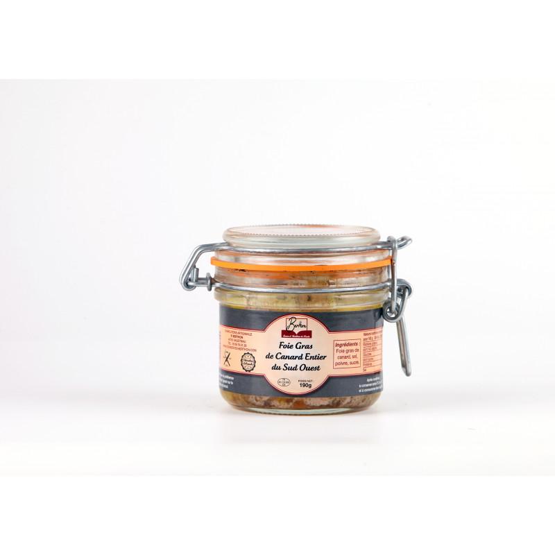Foie gras de canard su Sud-ouest 190grs