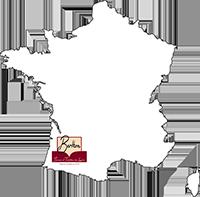 Carte de France ciblée sur Maison Berthon